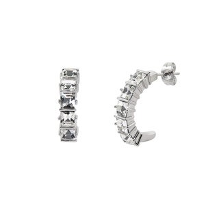 Eternally Haute Hoop Earrings with Swarovski Element Crystals