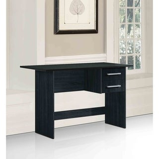 Hodedah Black-finished Wood 2-drawer Writing Desk