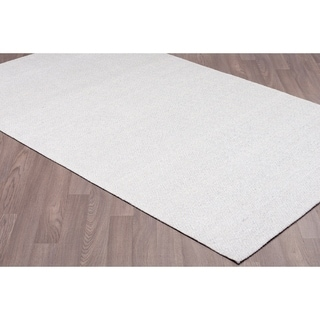 Diamond Silver Rayon From Bamboo Handmade Area Rug (5'x 8')