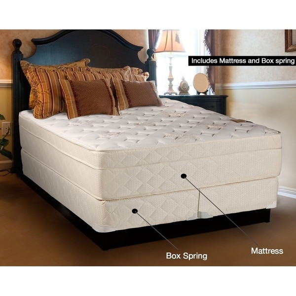 Shop Spring Coil 13 Inch Pillowtop King Size Mattress Set