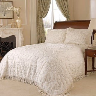 Medallion Chenille Bedspread Queen (Option: Ivory)