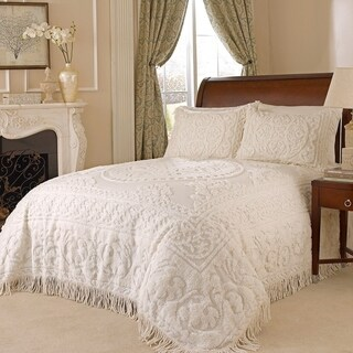 Medallion Chenille Bedspread King (Option: Ivory)