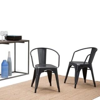 WYNDENHALL Elisse Metal Dining Arm Chair (Set of 2)