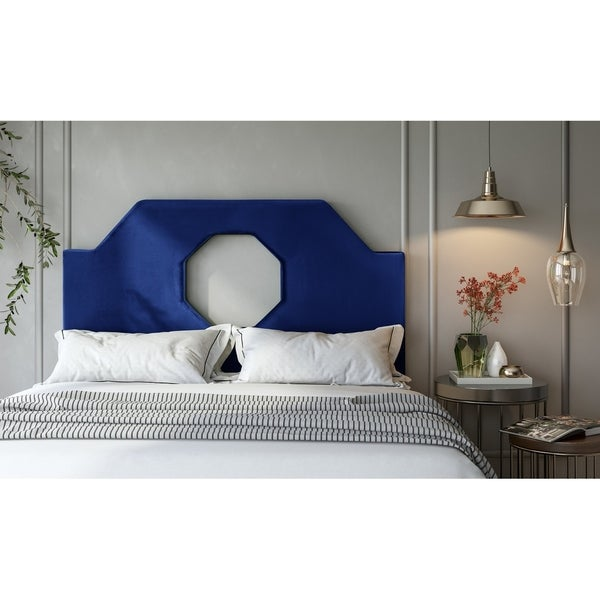 upholstered headboard grey velvet king navy handy blue queen living full