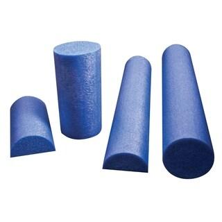 """CanDo® Foam Roller - Blue PE foam - 6"""" x 36"""" - Half-Round"""