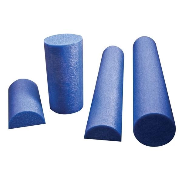 """CanDo® Foam Roller - Blue PE foam - 6"""" x 12"""" - Half-Round"""