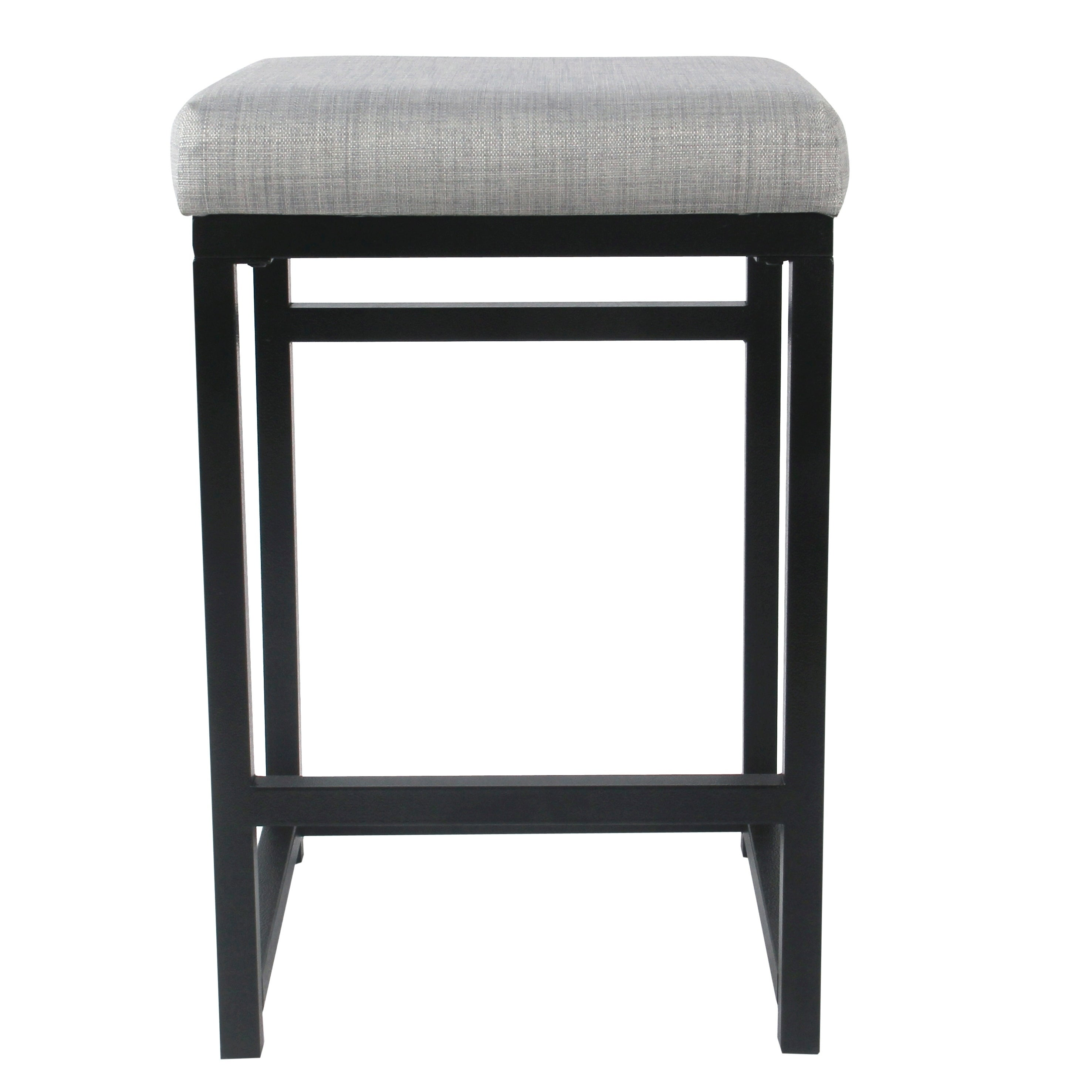 Stupendous Homepop Open Back Metal 24 Counter Stool Squirreltailoven Fun Painted Chair Ideas Images Squirreltailovenorg