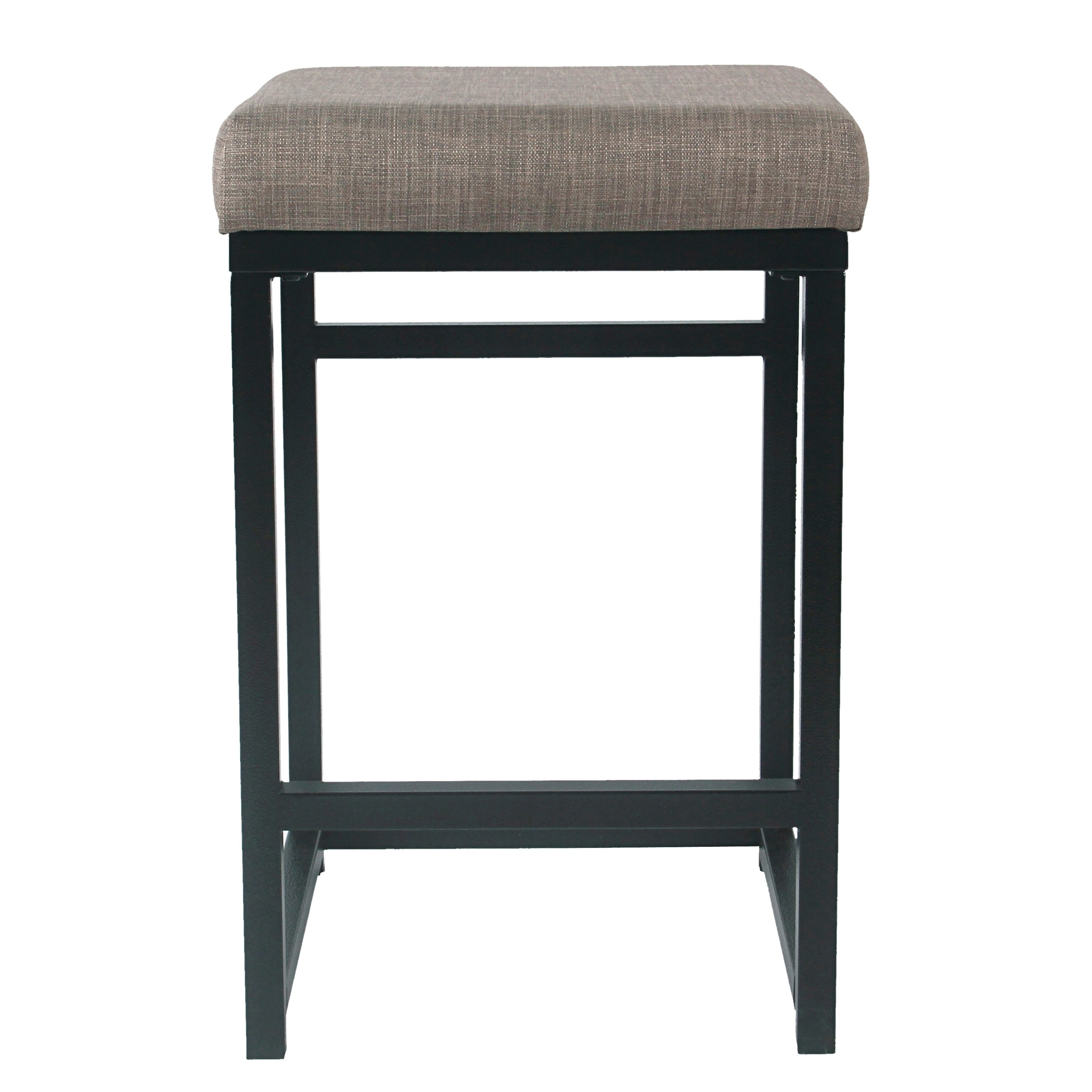 "HomePop Open Back Metal 24"" Counter Stool (2 options available)"