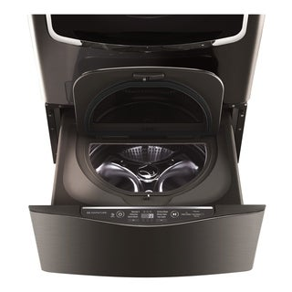 LG WD205CK LG SIGNATURE 1.0 cu. ft. LG SideKick Pedestal Washer, LG TWINWash Compatible in Black Stainless Steel