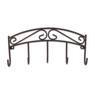 "Sweet Home Collection Scroll Collection Bronze Key Rack (8.5""x4""x1.4"")"