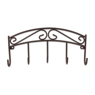 """Sweet Home Collection Scroll Collection Bronze Key Rack (8.5""""x4""""x1.4"""")"""