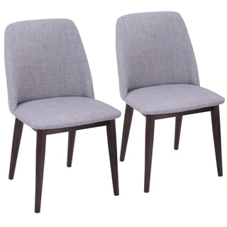 LumiSource Tintori Fabric Upholstered Mid-century Style Dining Chairs (Set of 2)