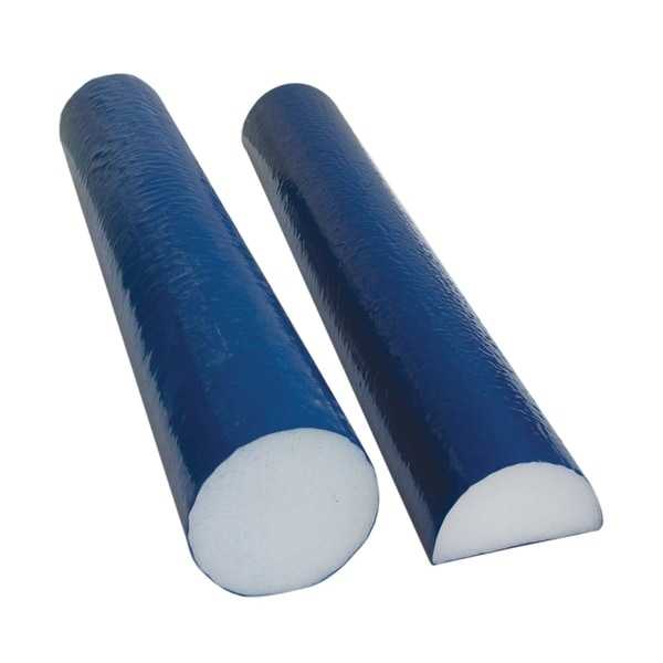 "CanDo® Foam Roller - PE foam, Blue TufCoat® Finish - 4"" x12"" - Round"