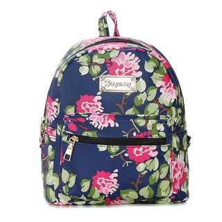 Hakbaho Jewelry Vegan Leather Floral Backpack