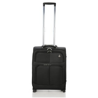 Aerolite Black 22-inch Rolling Carry On Upright Suitcase