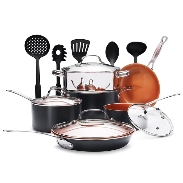 Gotham Steel  Piece Kitchen Nonstick Cookware Set