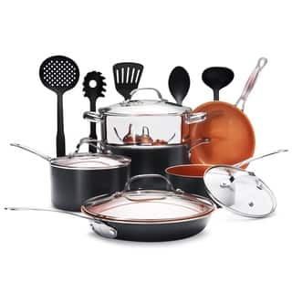 Gotham Steel 15-Piece Titanium and Ceramic Nonstick Copper Frying Pan and Cookware Set - Includes 5 Utensils|https://ak1.ostkcdn.com/images/products/17404774/P23642386.jpg?impolicy=medium