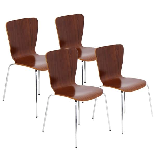 Peachy Shop Bent Wood Contemporary Stackable Dining Chair Set Of 4 Gmtry Best Dining Table And Chair Ideas Images Gmtryco