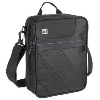 FUL Tek Sak Black Laptop Tablet Messenger Bag