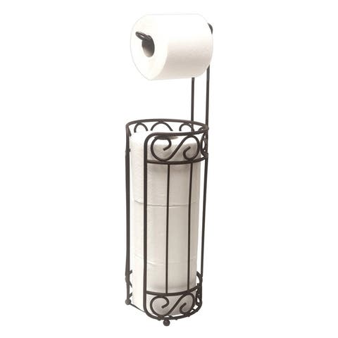 """Sweet Home Collection Scroll Collection Toilet Paper Holder and Dispenser- Bronze (22.5""""X6""""X6"""")"""