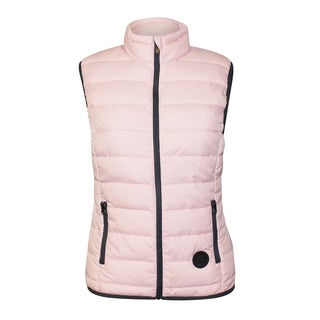 Repair Woman's Stand Up Collar Zip Front Quilted Vest With Pockets