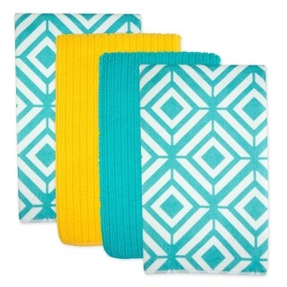 Diamond Microfiber Dishtowel Set of 4
