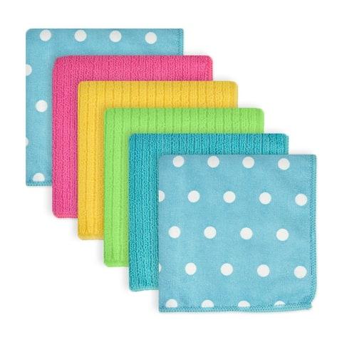 Dots Microfiber Dishcloth Set of 6