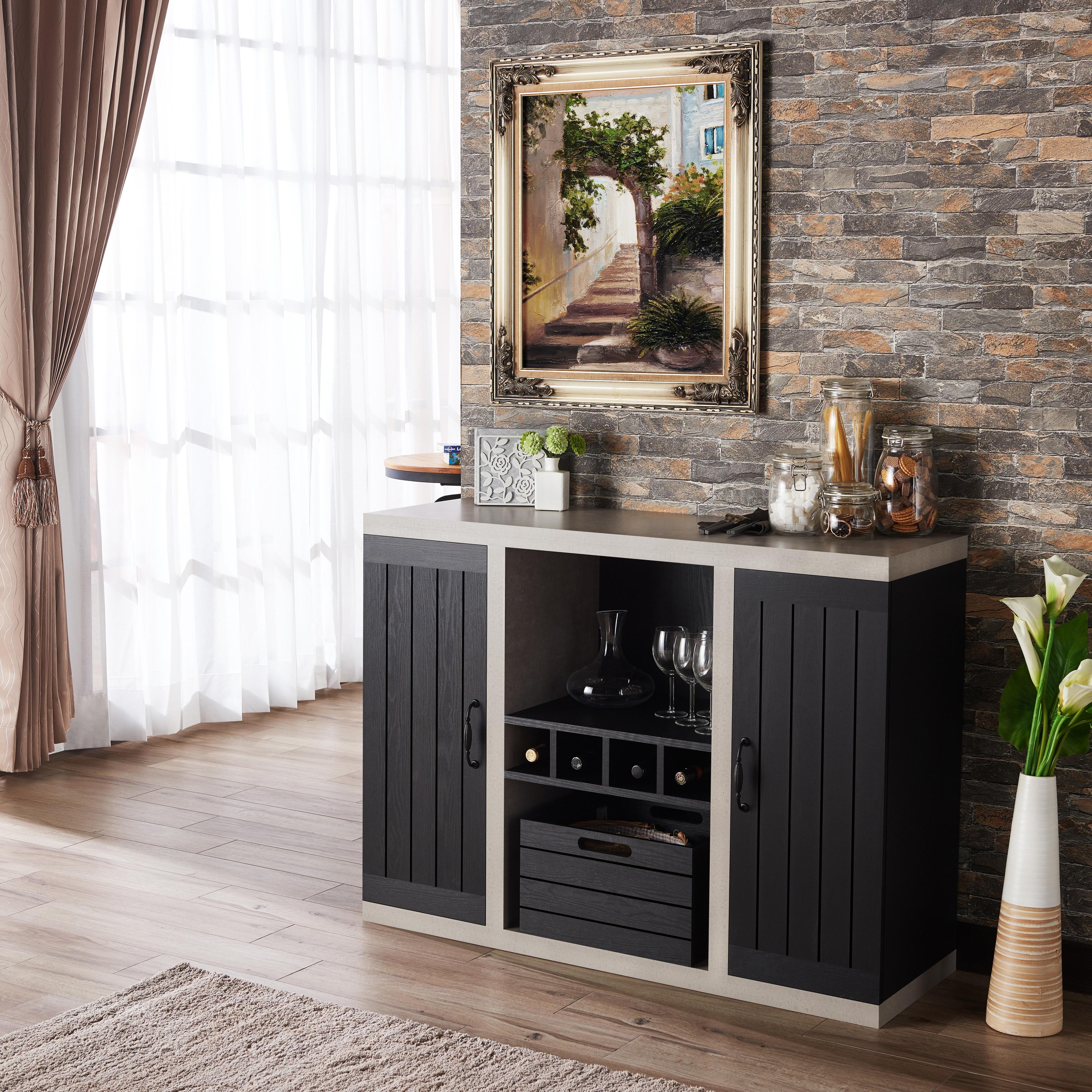 Furniture of america chelsean industrial cement like for Furniture of america gelenan industrial cement like multi storage buffet