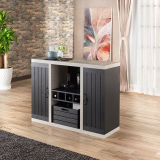 Furniture of America Chelsean Industrial Cement-like Buffet Sideboard