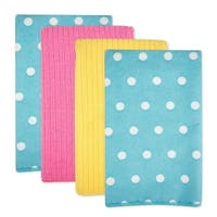 Dots Microfiber Dishtowel Set of 4