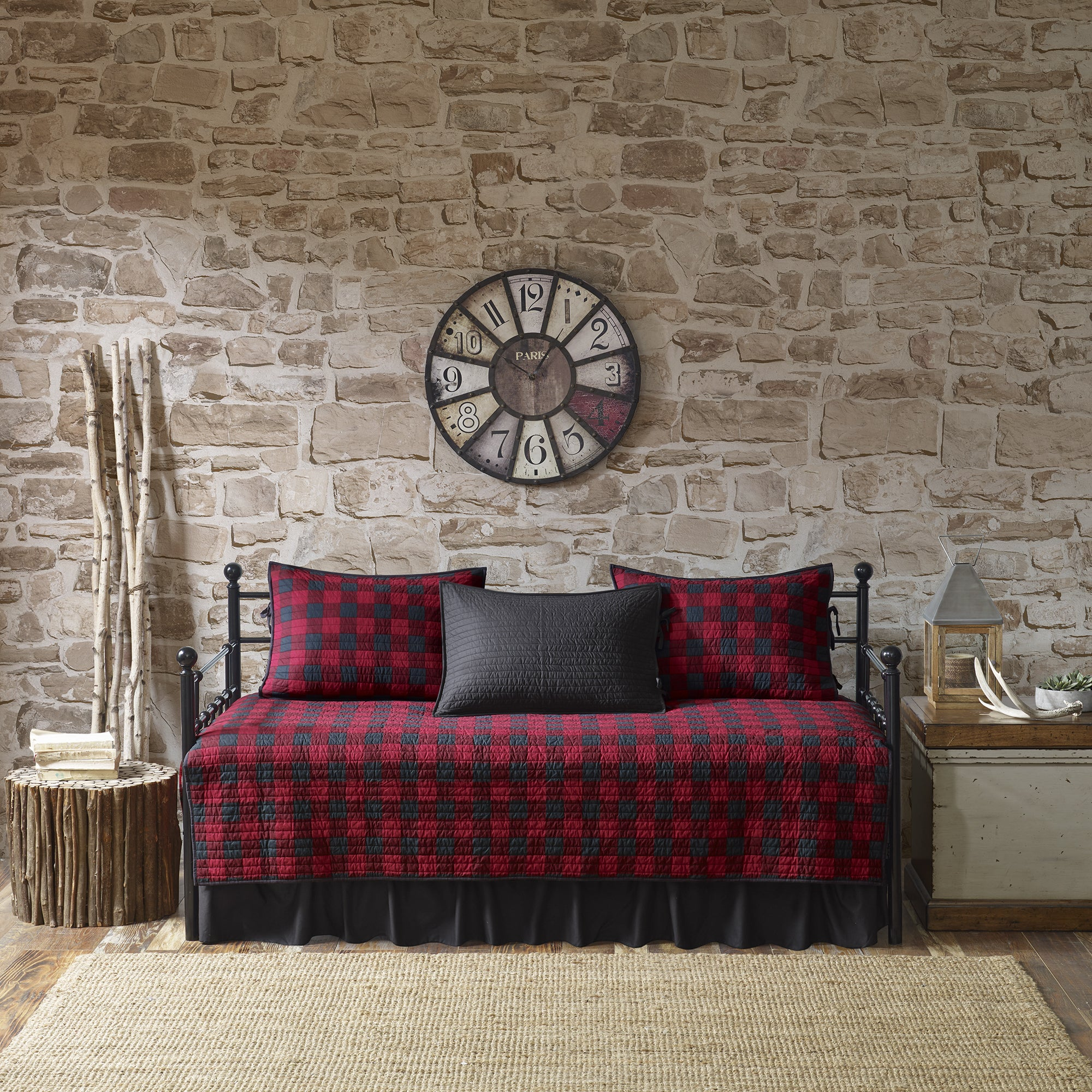 Woolrich Buffalo Check Red/ Black Year Round Cotton Print...