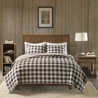 Woolrich Buffalo Check Tan Year Round Oversized Cotton Printed Quilt Mini Set