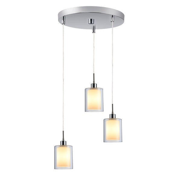 Woodbridge Lighting 14724CHR Alaina Chrome Glass 3-light Cluster Light