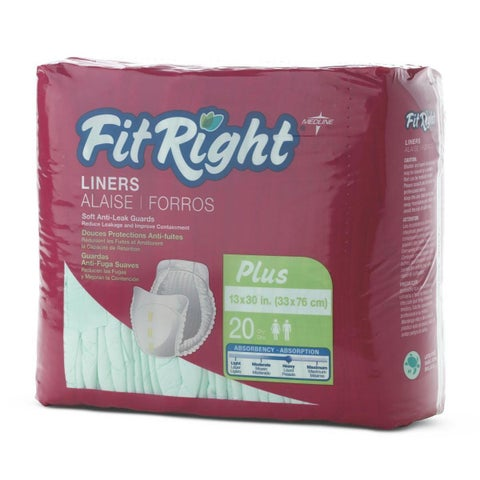 FitRight Plus 13 x 30-inch Super Disposable Liners (Pack of 80)