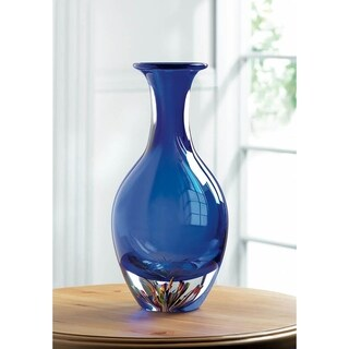 Oceanview Glass Vase with Colored Base