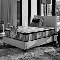 Kingsdown Crown Imperial Mantle 16-inch Queen Luxury Plush Hybrid Mattress Set