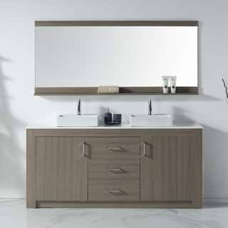 72 in vanity double sink. Virtu USA Tavian 72 inch Double Bathroom Vanity Set with Faucet and Top  Options Over 70 Inches Vanities Cabinets For Less