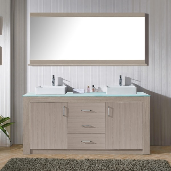Shop Virtu Usa Tavian 72 Inch Double Bathroom Vanity Set With Faucet
