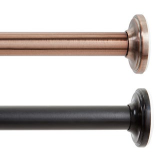 """Kenney 5/8"""" Twist & Fit No-Tools Tension Rod - 28 to 60 inches"""