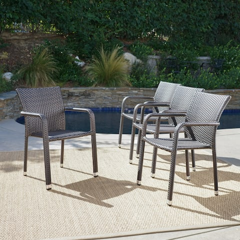 Sensational Buy Aluminum Patio Dining Chairs Online At Overstock Our Home Interior And Landscaping Eliaenasavecom
