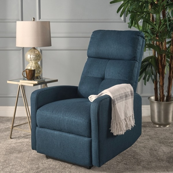 niran fabric power recliner by christopher knight home