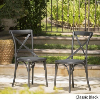 Danish Outdoor Farmhouse Dining Chair (Set of 2) by Christopher Knight Home (3 options available)