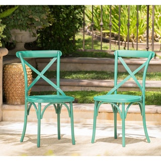 Danish Outdoor Farmhouse Dining Chair (Set of 2) by Christopher Knight Home