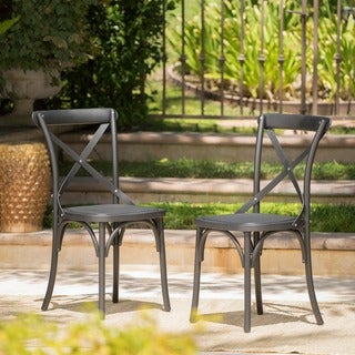 Lovely Danish Outdoor Farmhouse Dining Chair (Set Of 2) By Christopher Knight Home