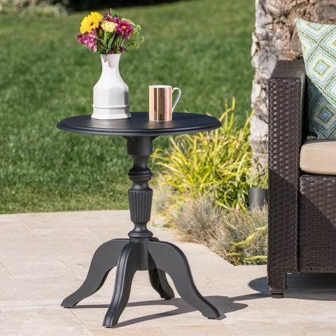 Danish Outdoor Round Side Table by Christopher Knight Home