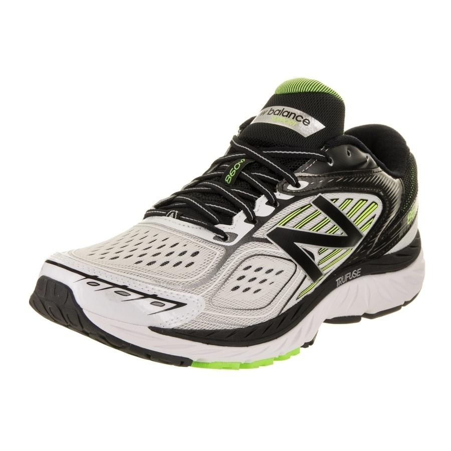 New Balance Men's 860v7 Running Shoe (11.5), White (Synth...
