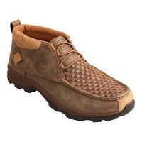 Men's Twisted X Boots MHK0008 Hiker Boot Woven Brown/Bomber Leather