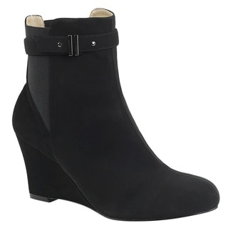Pleaser Pink Label KIMBERLY-102 Women's Elastic Wedge Heel Ankle Boot (Option: 14)