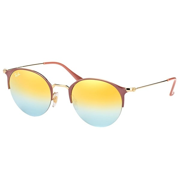 16023cde65f Ray-Ban Round RB 3578 9011A7 Unisex Turtle Dove Gold Frame Green Gradient  Mirror Lens