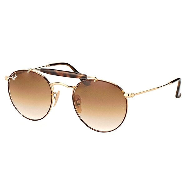 8df20ce23e Ray-Ban Round RB 3747 900851 Unisex Gold Frame Brown Gradient Lens  Sunglasses